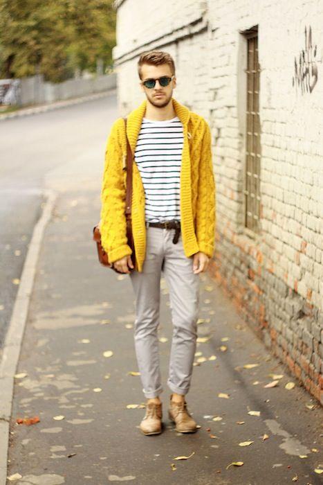 Thoải mái trên đường phố với gu thời trang màu vàng chủ đạo cho nam