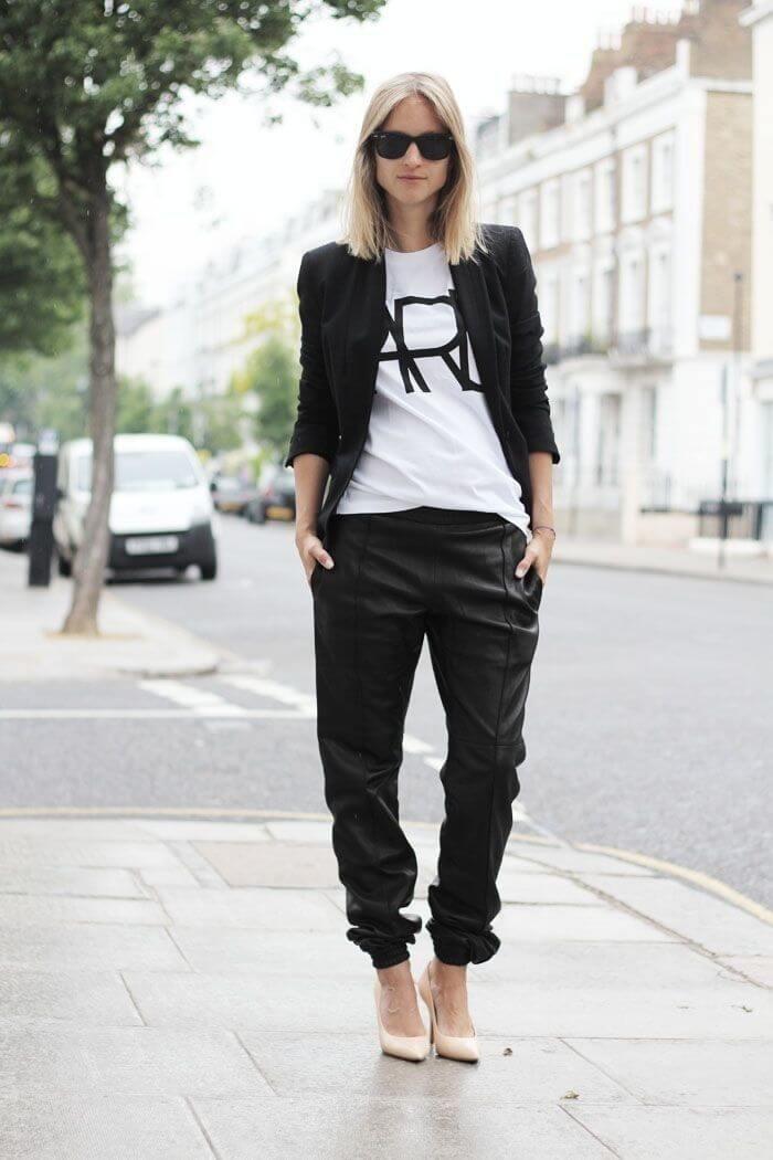 Quần baggy nữ đẹp kết hợp với áo blazer
