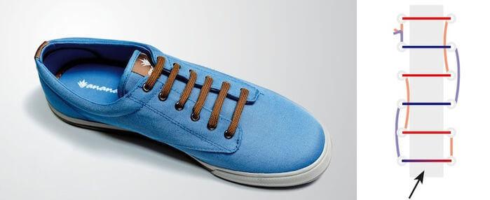 Cách thắt dây giày đẹp kiểu Hidden knot
