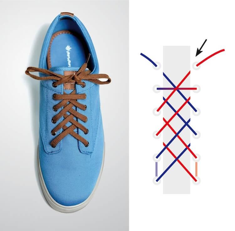 Cách thắt dây giày đẹp kiểu Double Back