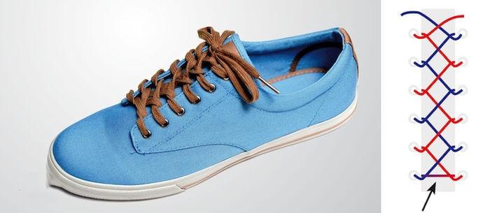 Cách thắt dây giày đẹp kiểu dây kéo