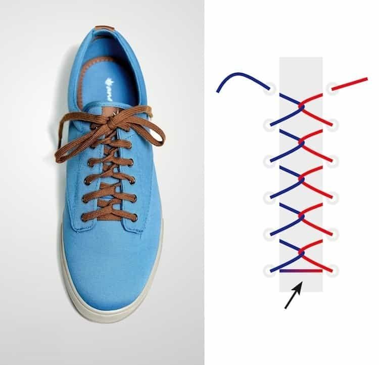 Cách thắt dây giày đẹp kiểu vòng lặp trở lại