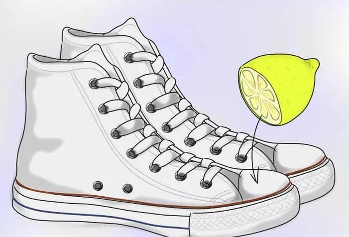 Làm trắng sạch giày Converse với chanh tươi