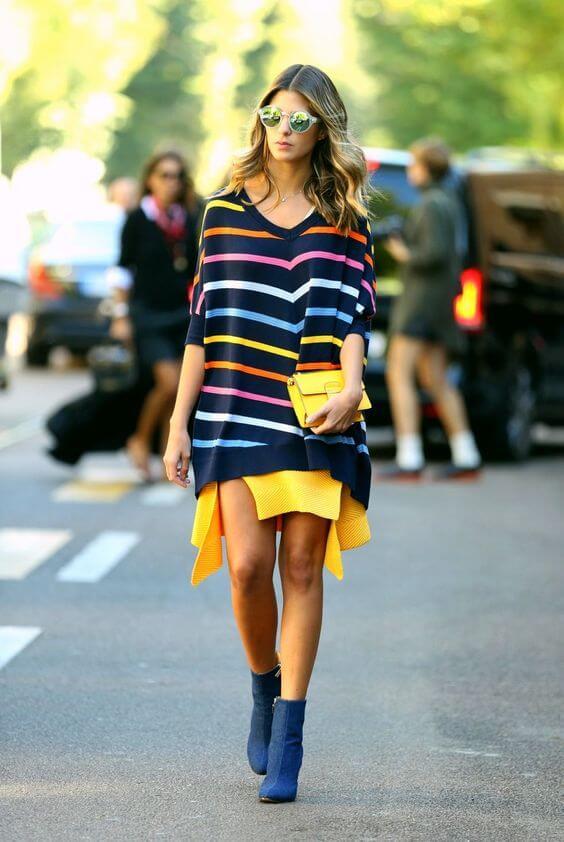 Áo free size thành váy liền mang đến vẻ ngoài trẻ trung và năng động