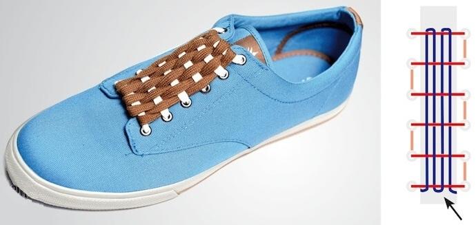 Cách buộc dây giày giấu nút thắt