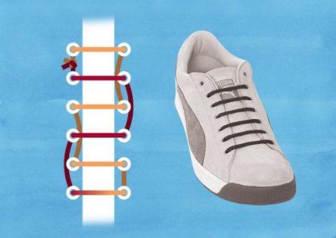 Cách buộc dây giày giấu nút thắt cực nhanh chóng và dễ hiểu