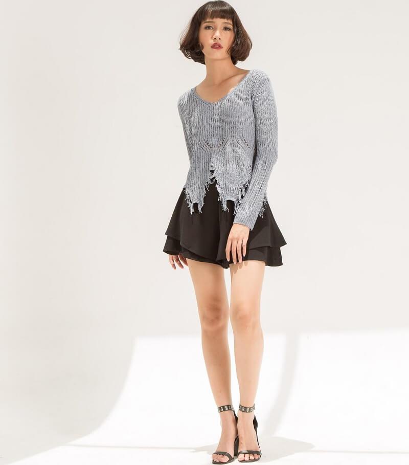Bí quyết phối đồ cho nữ trẻ trung với áo len