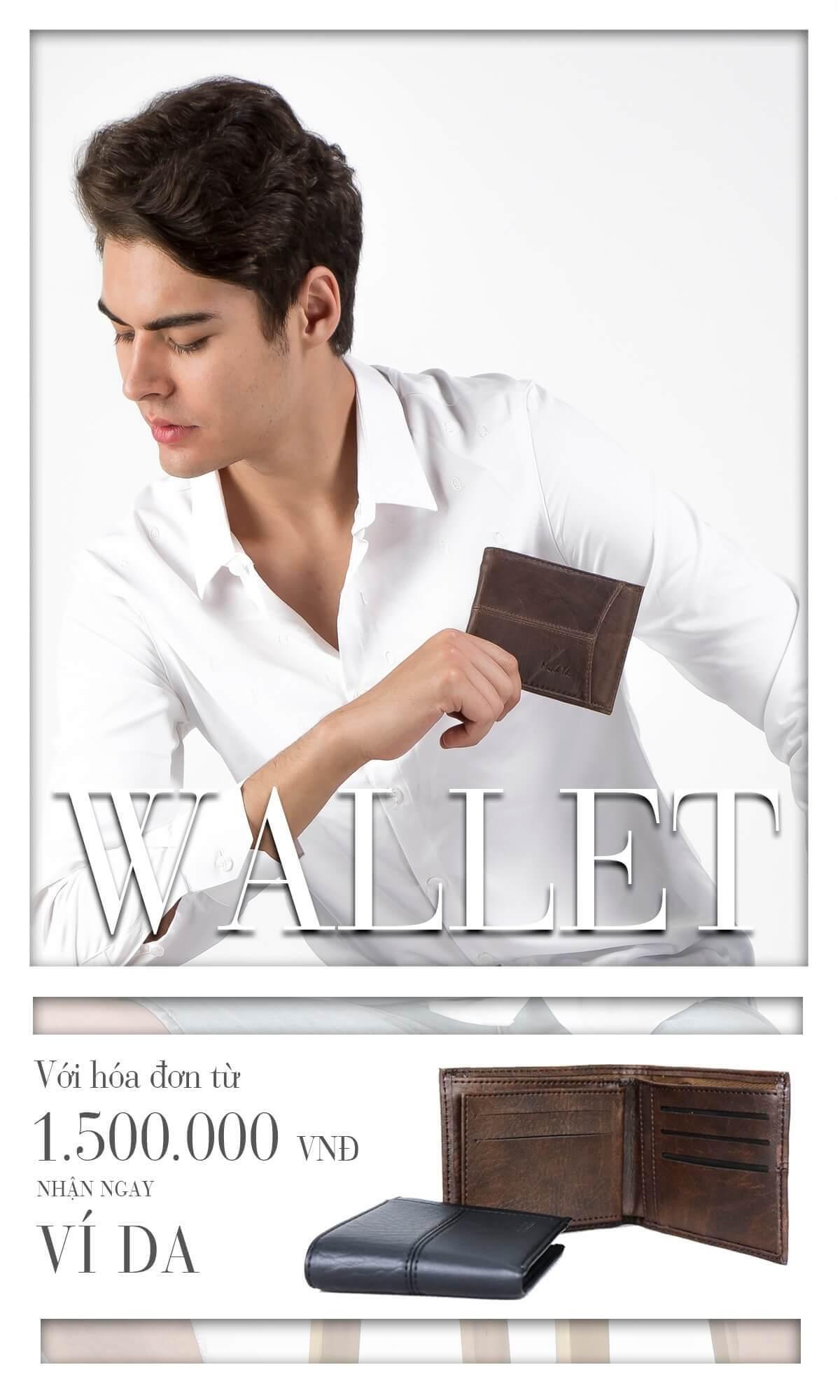 Tặng ví da khi mua sản phẩm thời trang tại Minh Thư