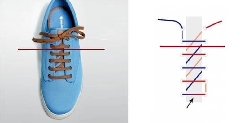 Cách thắt dây giày 4 lỗ nhanh & đẹp - Kiểu răng cưa