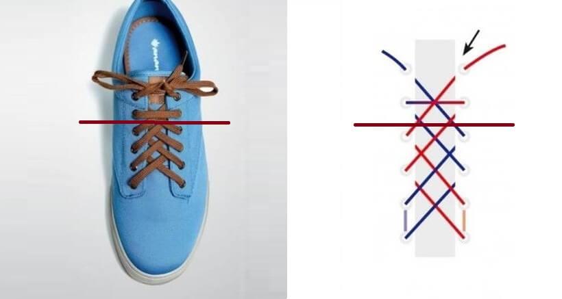 Cách thắt dây giày 4 lỗ nhanh & đẹp - Kiểu double back
