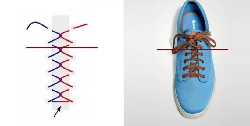 Cách thắt dây giày 4 lỗ nhanh & đẹp - Kiểu vòng lặp trở lại