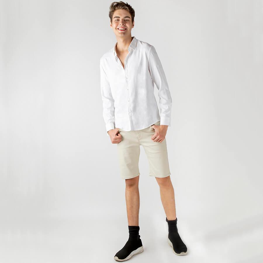 """Cực """"Men Lỳ"""" với áo sơ mi cùng quần short khỏe khoắn cho nam"""
