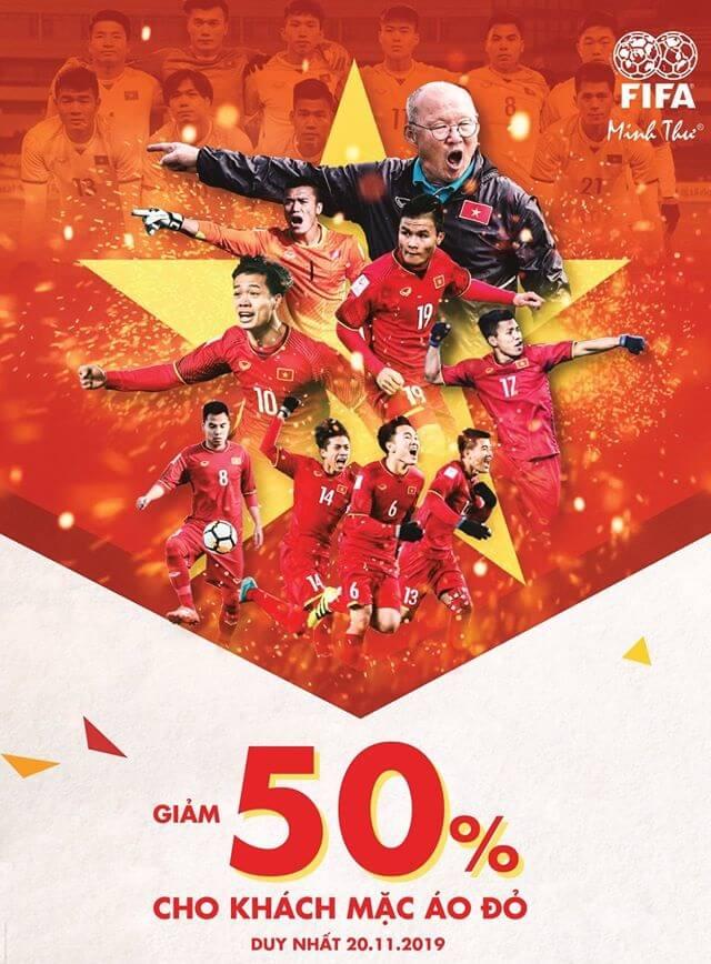 Hot: 20/11 – Giảm 50% tất cả sản phẩm khi Việt Nam thắng Thái Lan (20h – 19/11/2019)