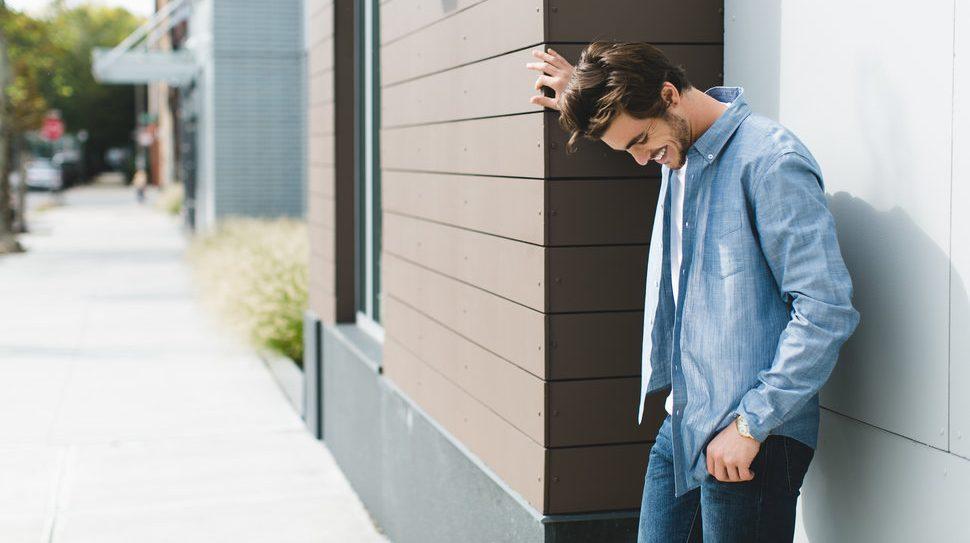 áo sơ mi nam màu xành chambray