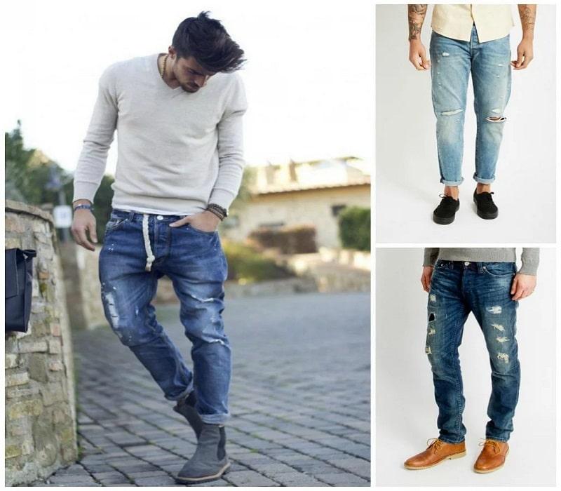 nam thấp nên mặc quần jean như thế nào