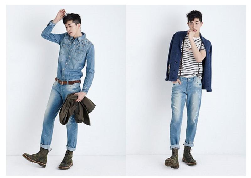 những anh chàng mảnh khảnh nên mặc quần jean như thế nào