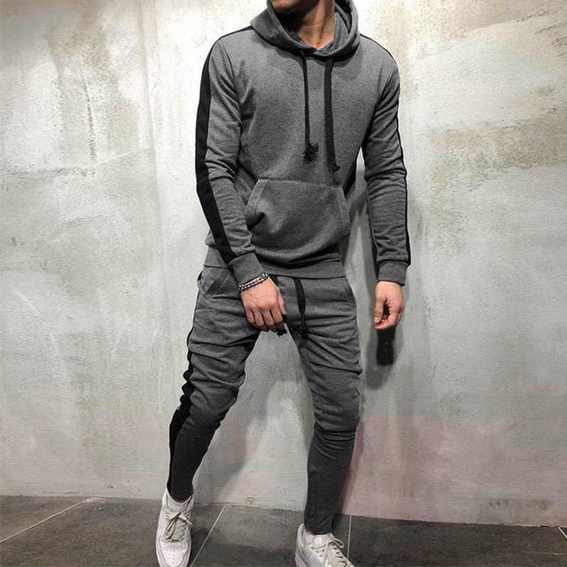 quần jogger kết hợp áo hoodie
