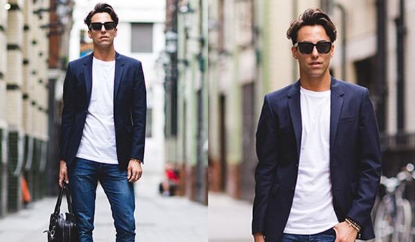 cách phối với quần jean và áo thun