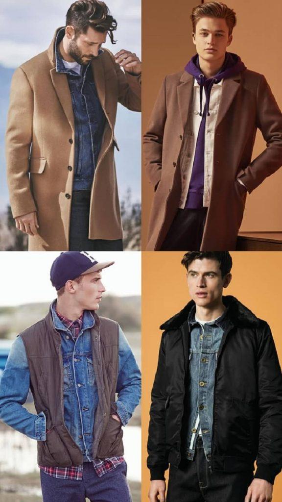 phong cách layer với áo khoác jean