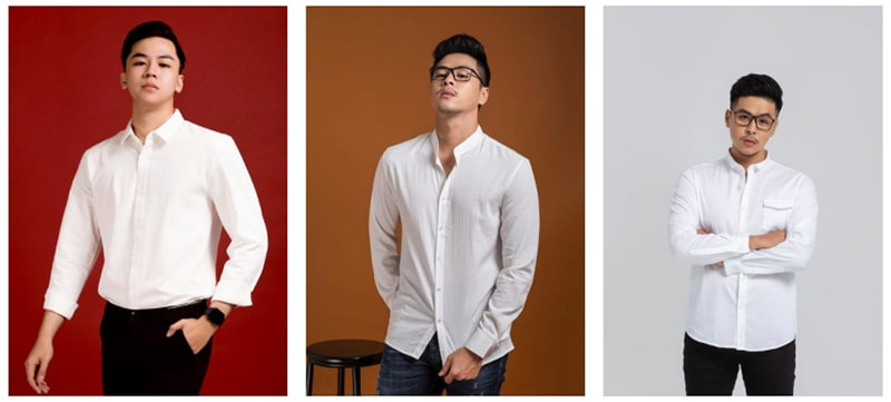 bộ sưu tập áo sơ mi trắng tại fashion minh thư