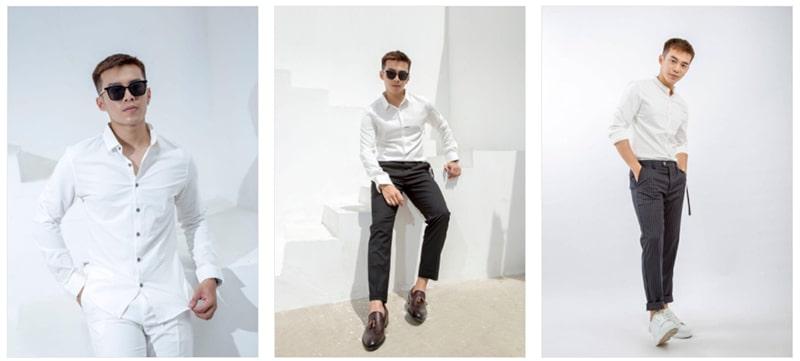 sơ mi màu trắng tại minh thư fashion