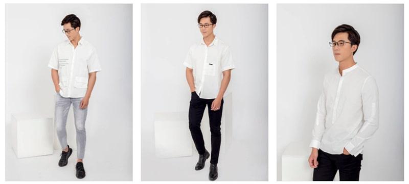 áo trắng tại fashion minh thư