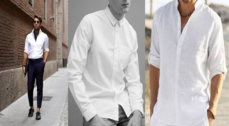 cách phối đồ với áo sơ mi trắng nam