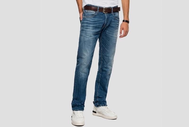 quần jean nam ống rộng replay