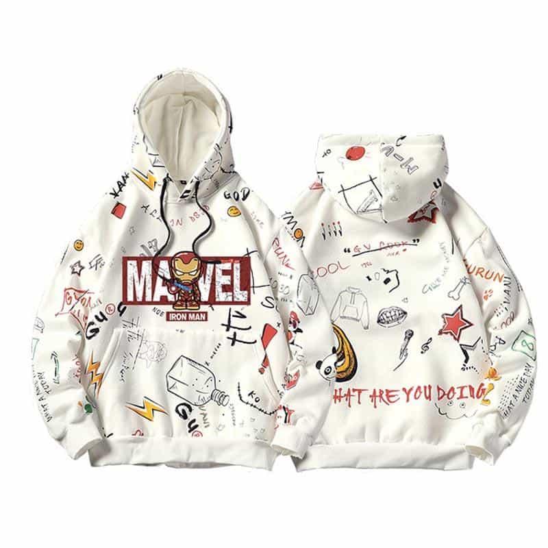 mẫu hoodie marvel