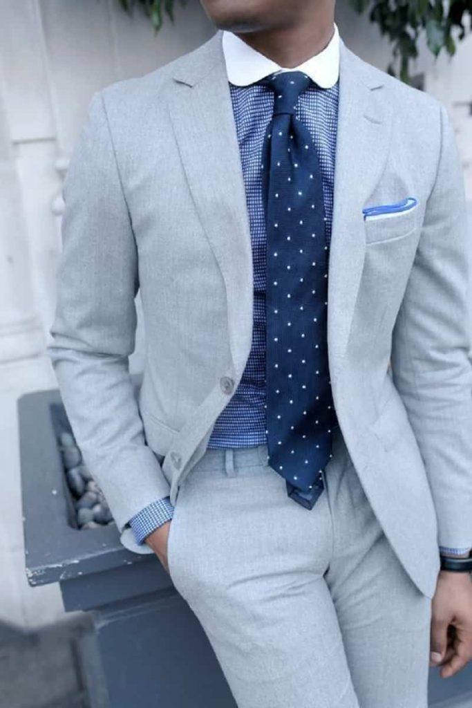 Áo sơ mi nam cổ bo tròn sang trọng lịch sự trong bộ vest