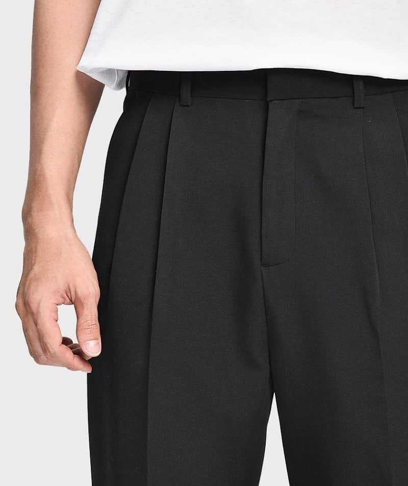 phối đồ đi học cho nam với quần ống rộng
