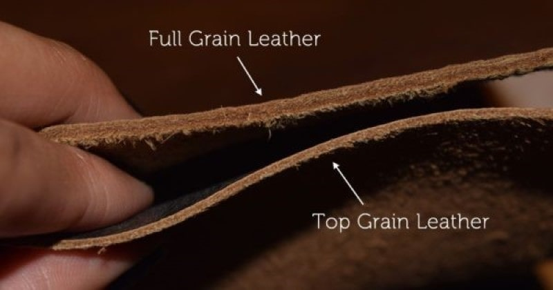 Top Grain Leather và full Grain Leather