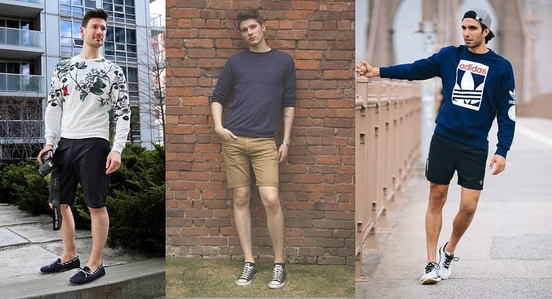 phối đồ unisex nam với quần short