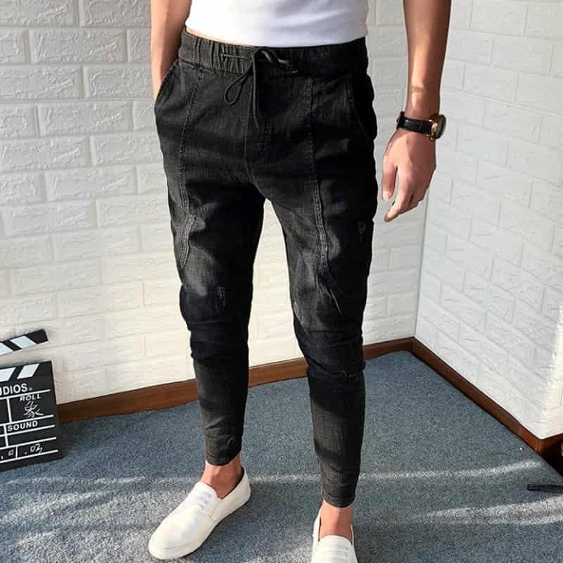 quần jean nam thời trang lưng thun