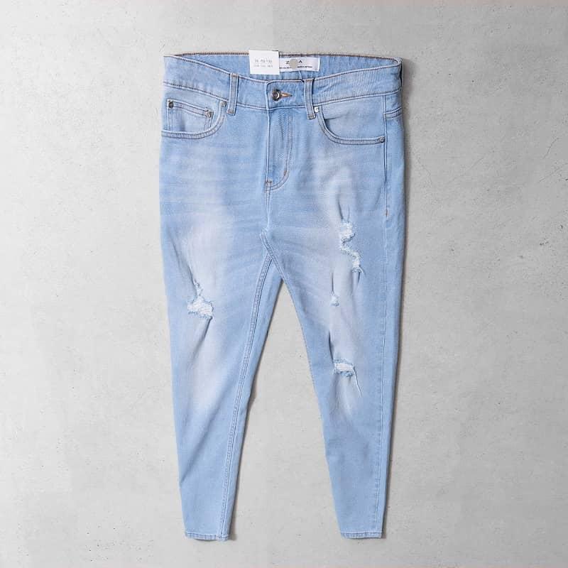 quần jean nam màu xanh nhạt