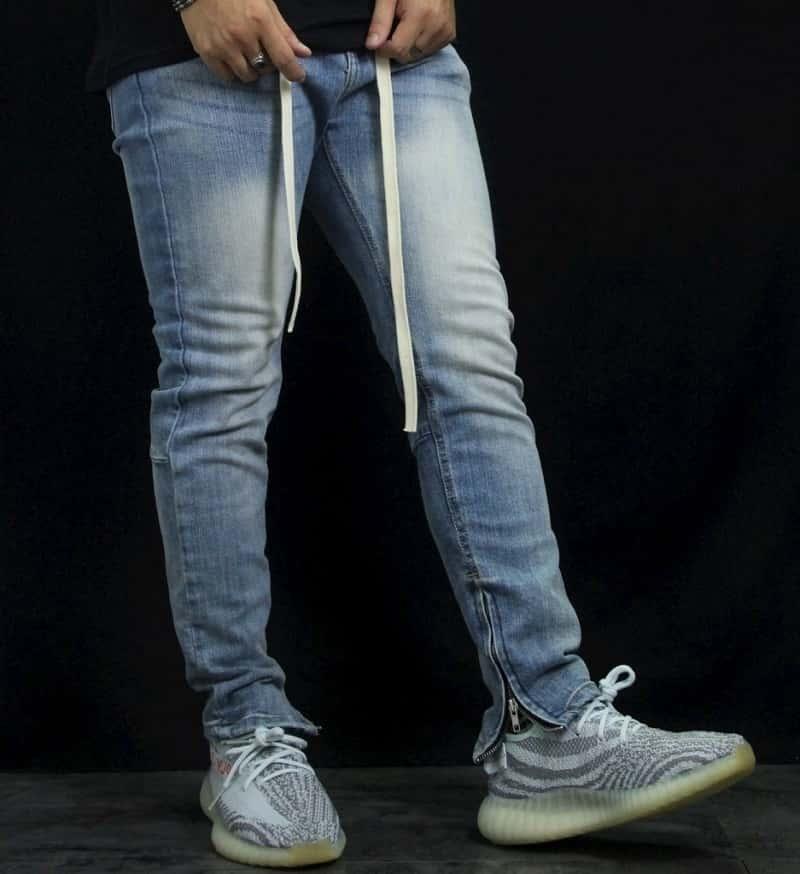 quần jean zipper nam