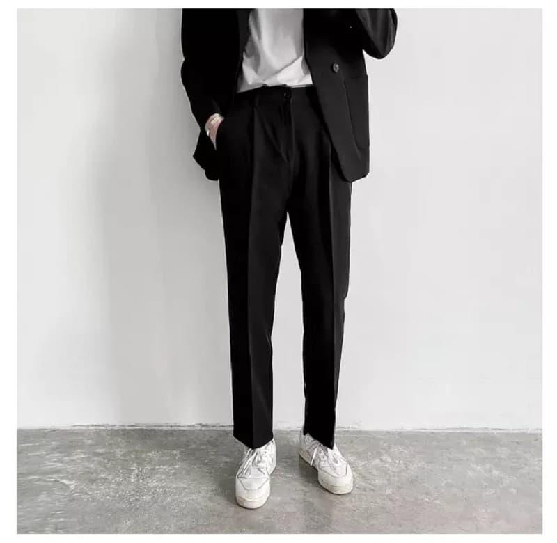 quần tây đen ống đứng