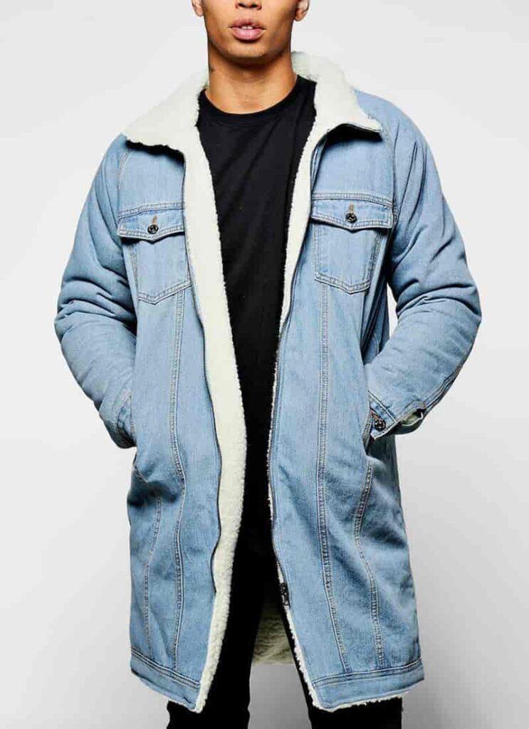 áo jean nam lót lông dài