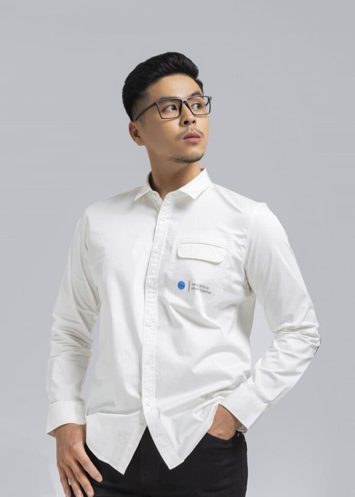 mẫu áo 1-pocket slogan shirt