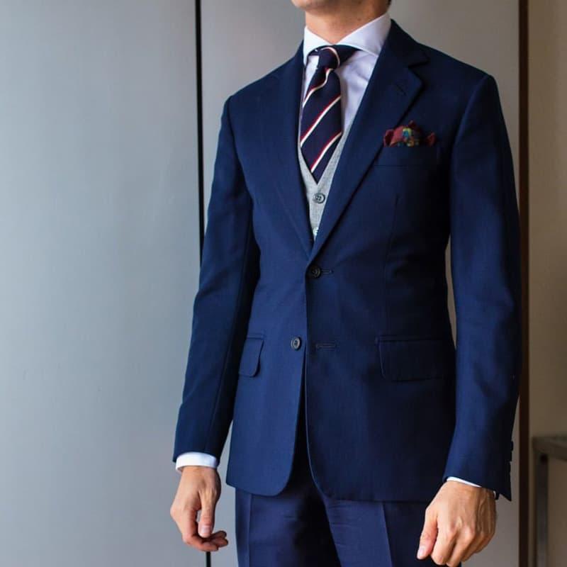 vest nam two piece xanh navy