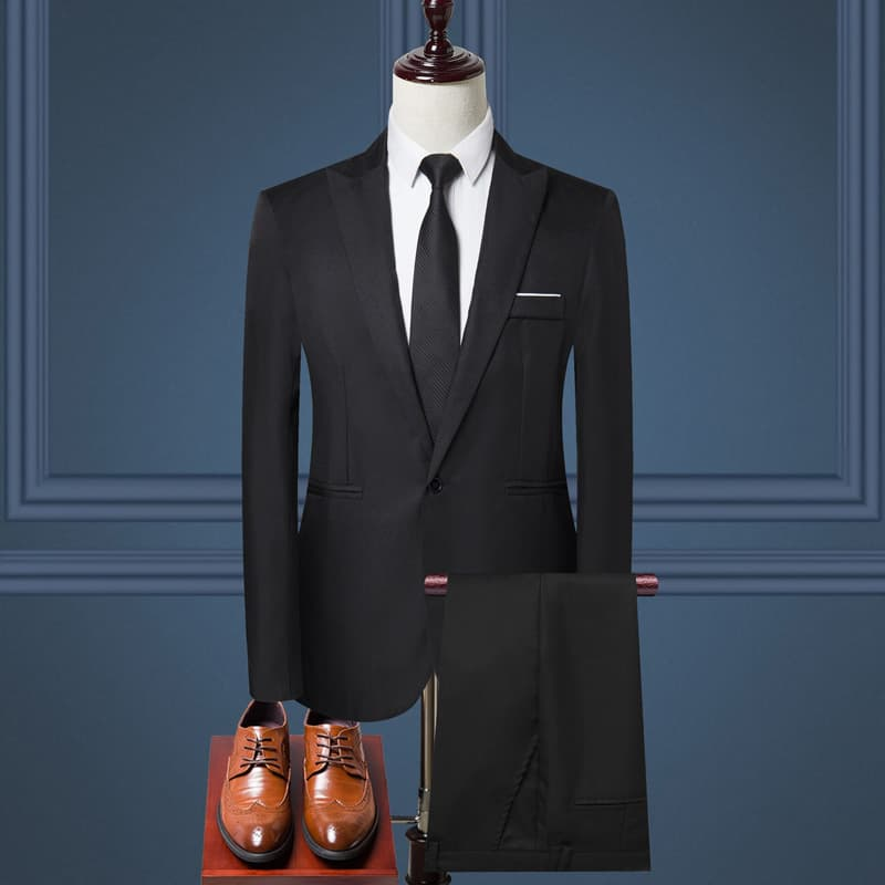 áo vest nam two piece đen