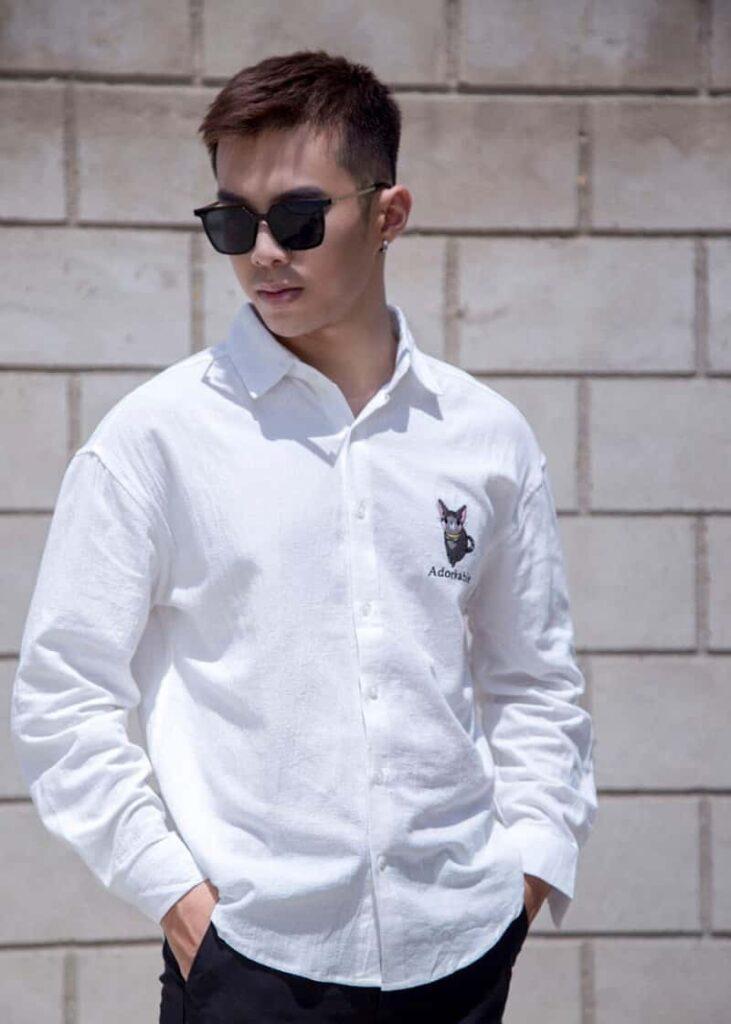 mẫu áo sơ mi trắng 2230