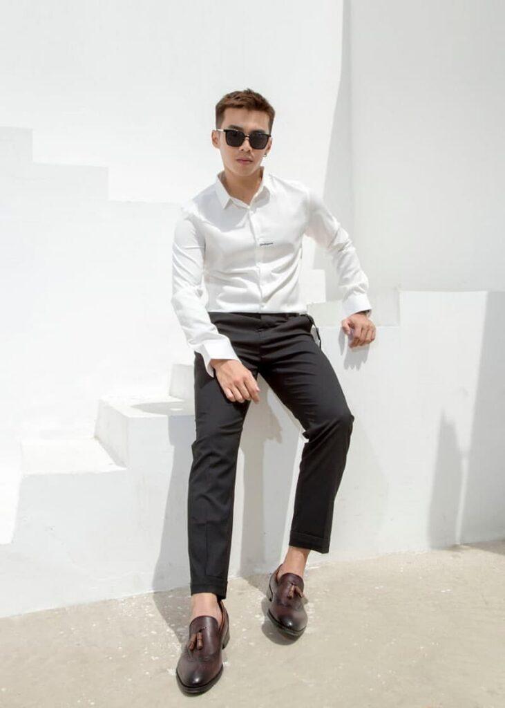mẫu áo Gentleman print shirt tại minh thư fashion