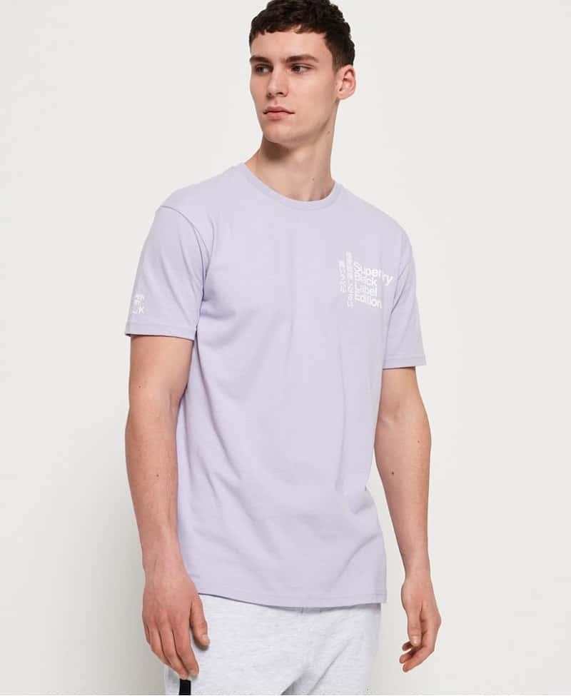 áo thun tím pastel