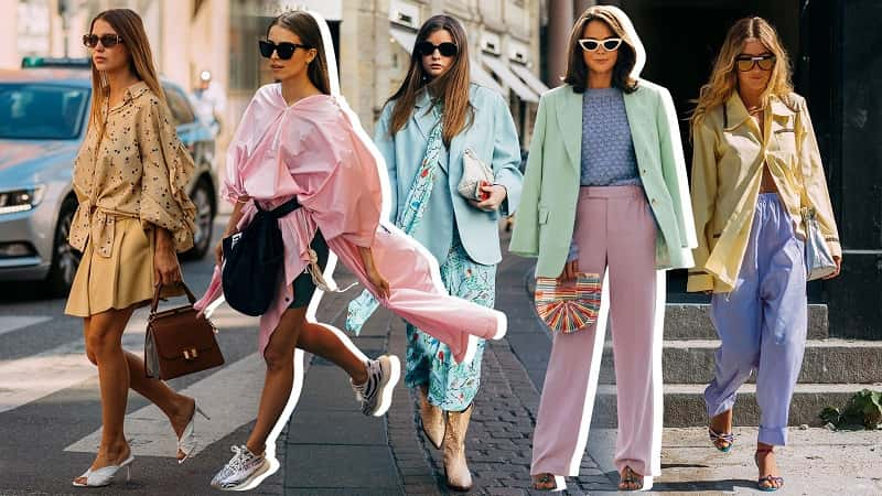 màu pastel trong thời trang