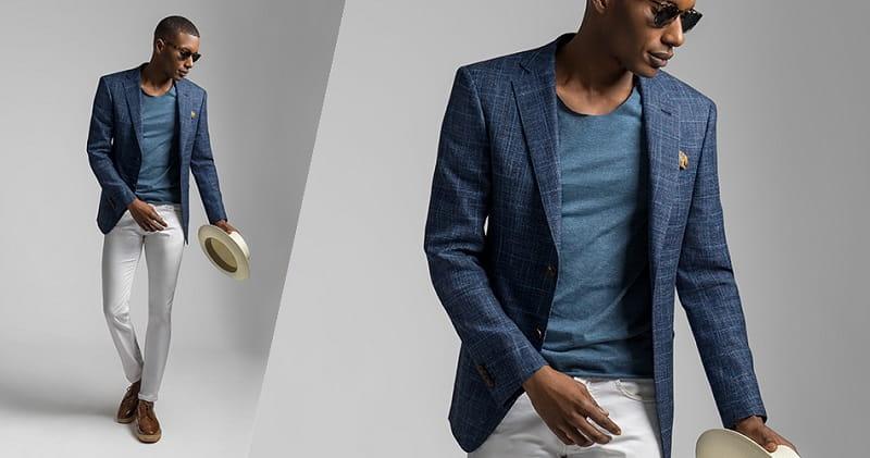 suit kết hợp với áo thun