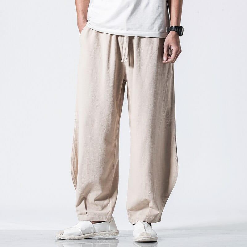 quần kaki nam đẹp vải đũi
