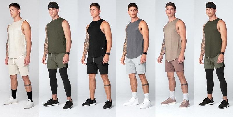 Những set đồ cực năng động cùng với tank top và quần short nam