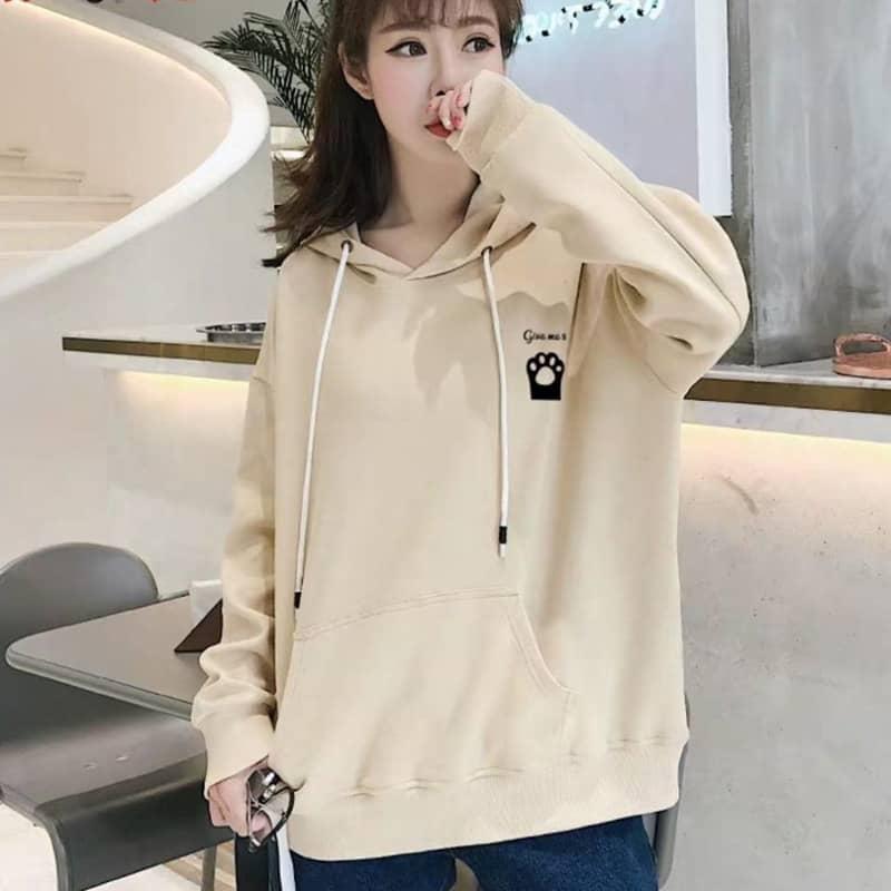 cách chọn size áo hoodie nữ