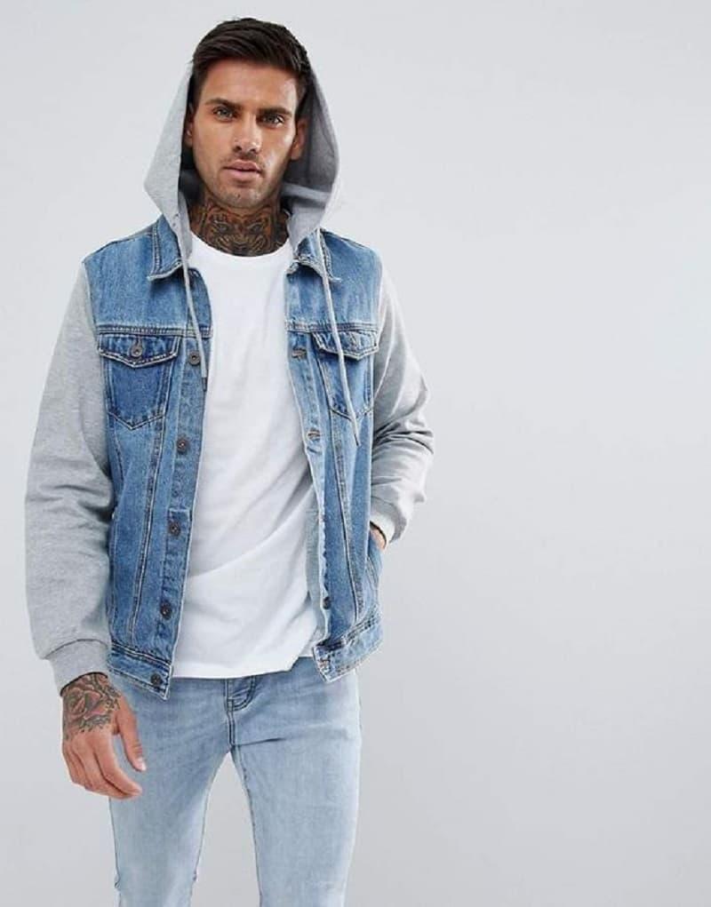 Tone màu áo khoác jean có mũ được ưa chuộng nhất
